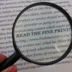 The fine print…